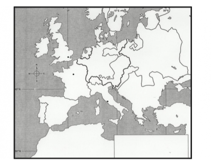 Borders Blank Map Europe No