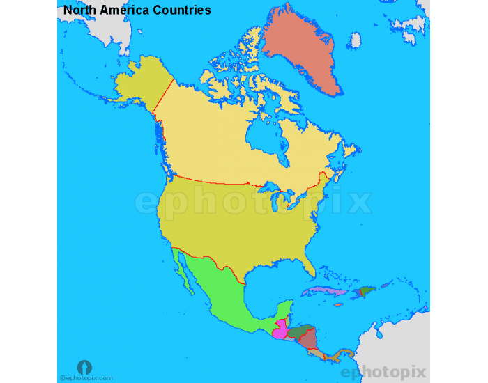 north america countries - 600×616