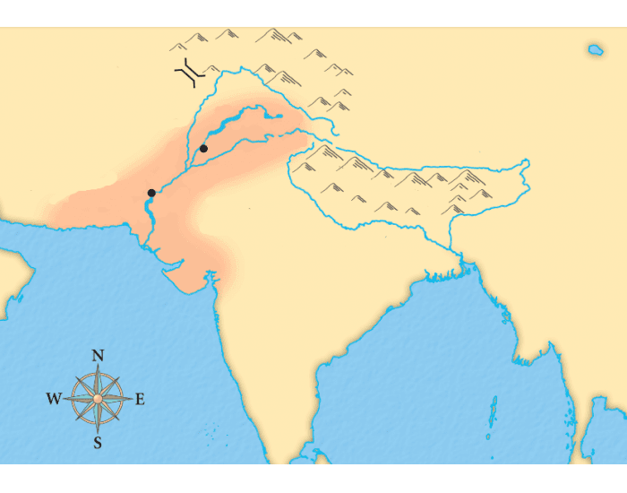 indus valley civilization map - 700×550