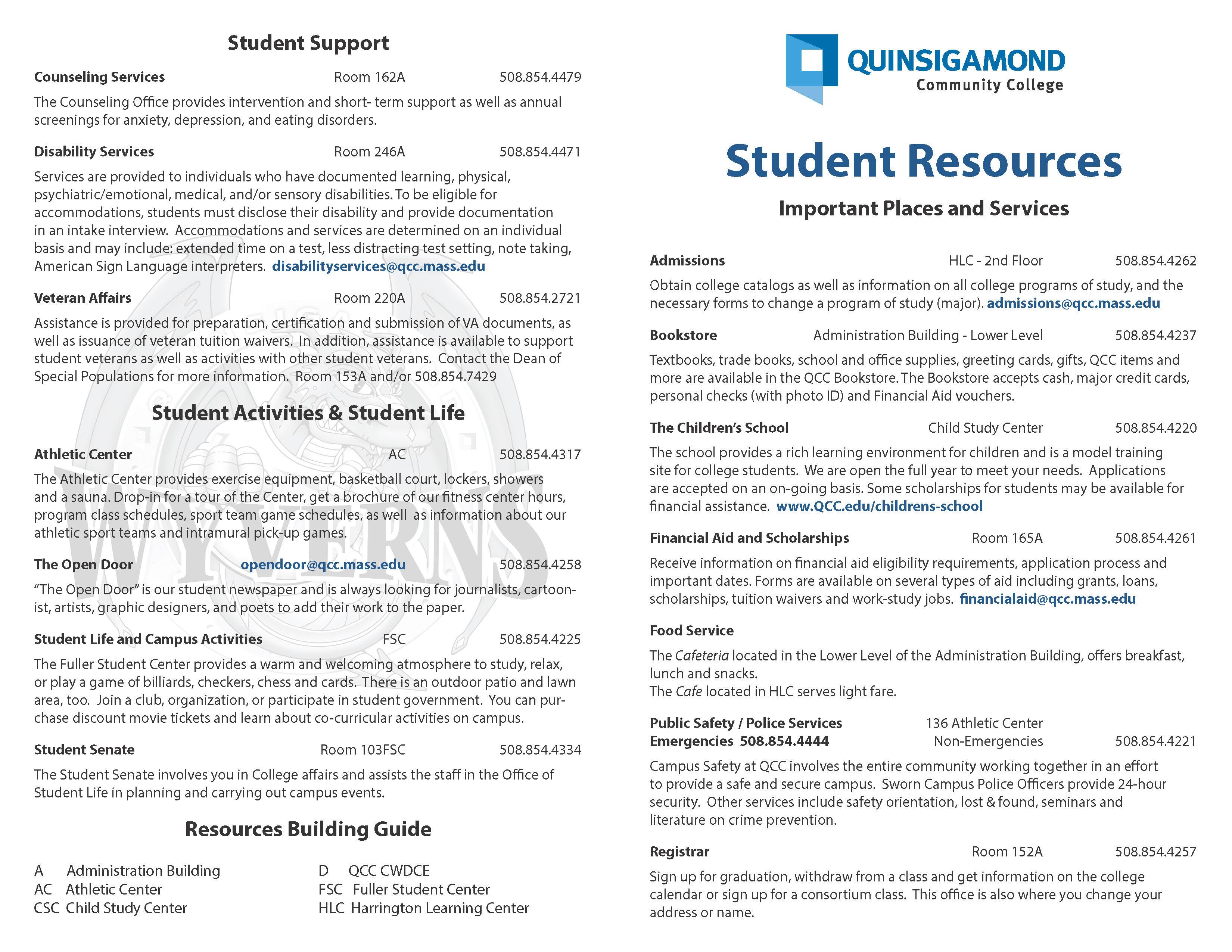 Quinsigamond Community College Campus Map