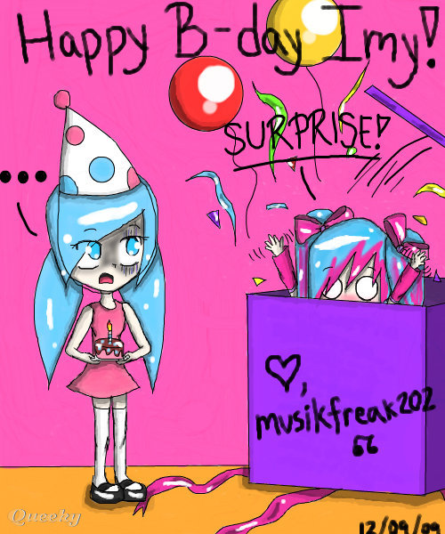 Happy Birthday Imy A Cartoons Speedpaint Drawing By