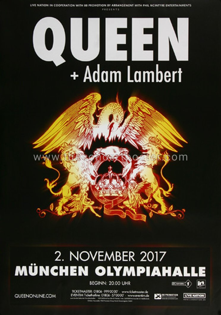 Tour Posters From Queen Adam Lambert Tours Queenconcerts