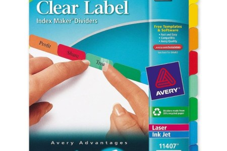 Tab Divider Staples Big Insertable Dividers Clear Pack Amazon Com Avery Plastic W