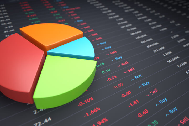 Pie Chart Stock Ticker Free Image Download