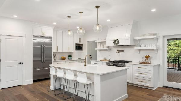 hanging lights over a kitchen island # 1