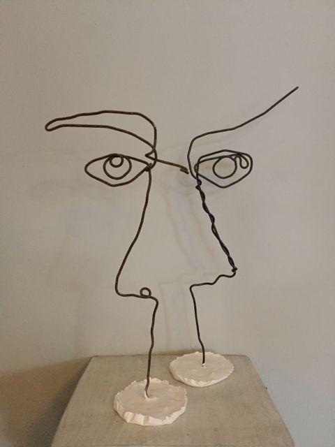 Wire Faces Rachel Ducker Wire Sculpture