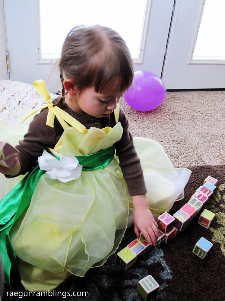DIY princess tiana dress costume