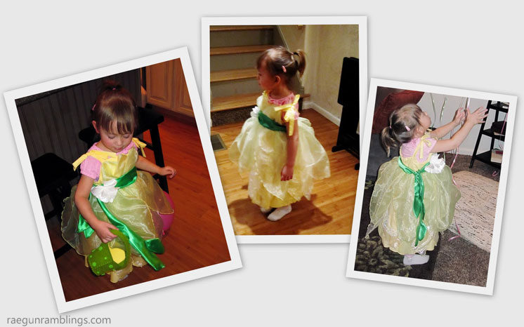 Princess and the frog costume tutorial