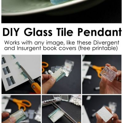 Divergent and Insurgent Book Cover Necklaces AKA Glass Tile Pendants Tutorial