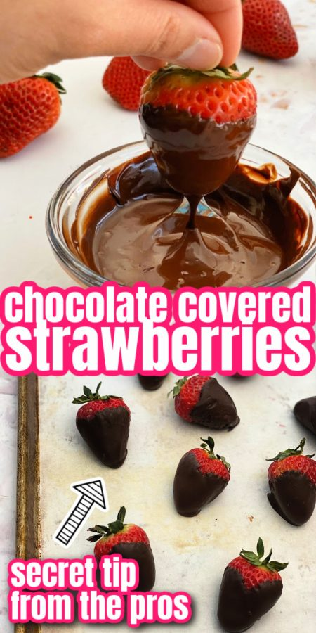 dipping chocolate covered strawberries