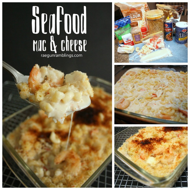 seafood Mac and cheese recipe super easy and delicious weeknight dinner idea
