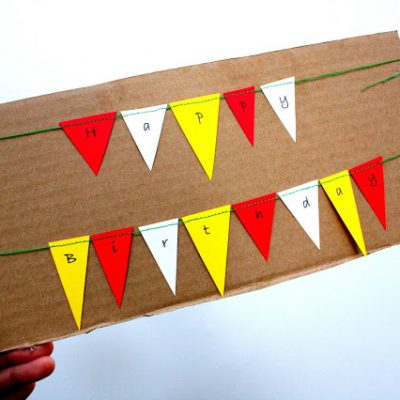 Mini Cake Bunting Tutorial and Transportation