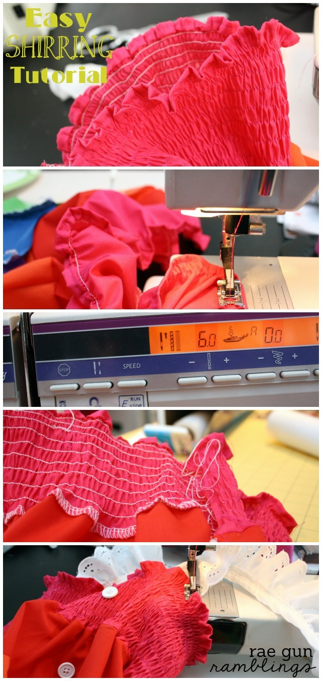 How to sew with elastic thread (shirring). Perfect for quick Summer dresses - Rae Gun Ramblings