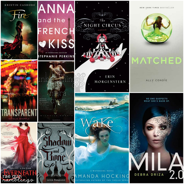 Top Ten Book Covers of Books I've Read