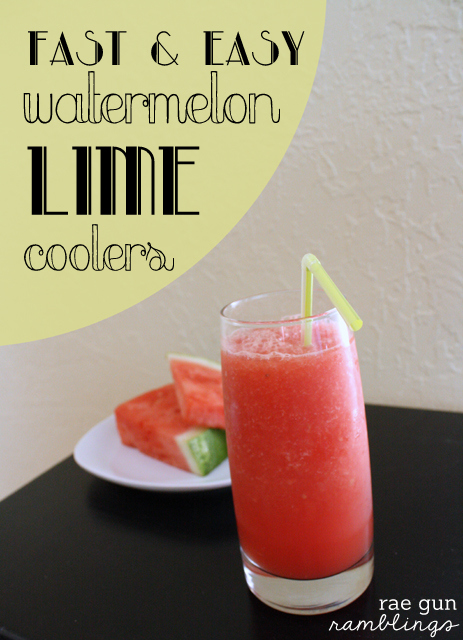 Super yummy and healthy watermelon lime cooler recipe - Rae Gun Ramblings