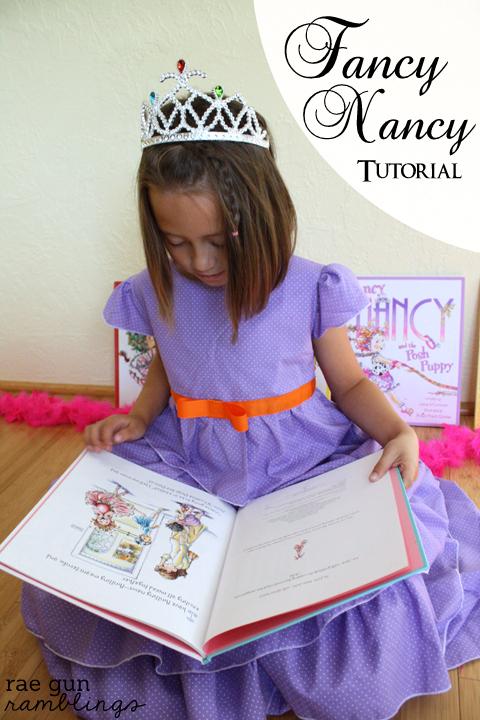 Fancy Nancy Dress Tutorial - Rae Gun Ramblings #fancynancy #costume #craft