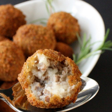 Delicious Cheesey Potato and Meat Croquettes great for afterschool snacks or dinner parties - Rae Gun Ramblings #shop #FreshTake #recipe #potato