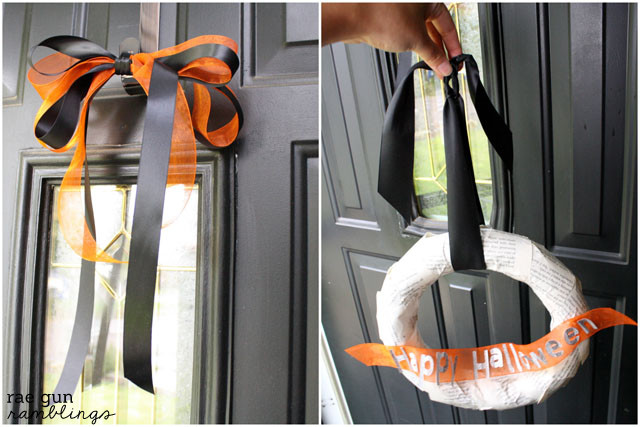 How to make a fancy double bow for hanging wreaths - Rae GUn Ramblings #diy #tutorial