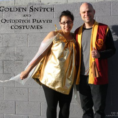 DIY Golden Snitch Costume Tutorial