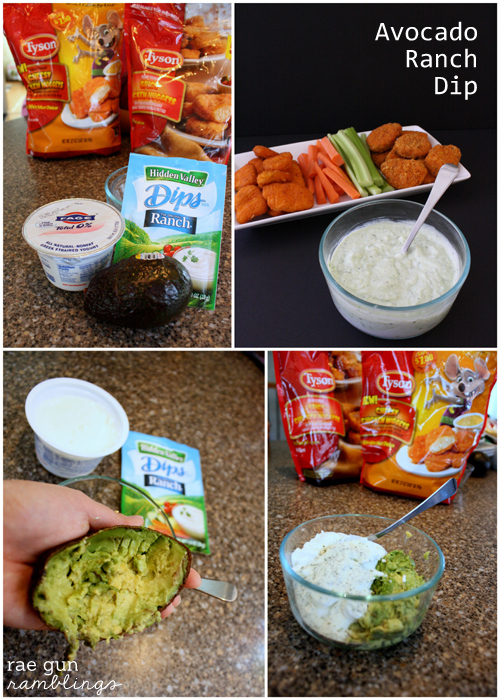Fast and yummy avocado ranch dip recipe at Rae Gun Ramblings #LoveUrNuggets #cbias #ad