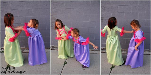 Simple princess dresses and easy pseudo corset tutorial - Rae Gun Ramblings