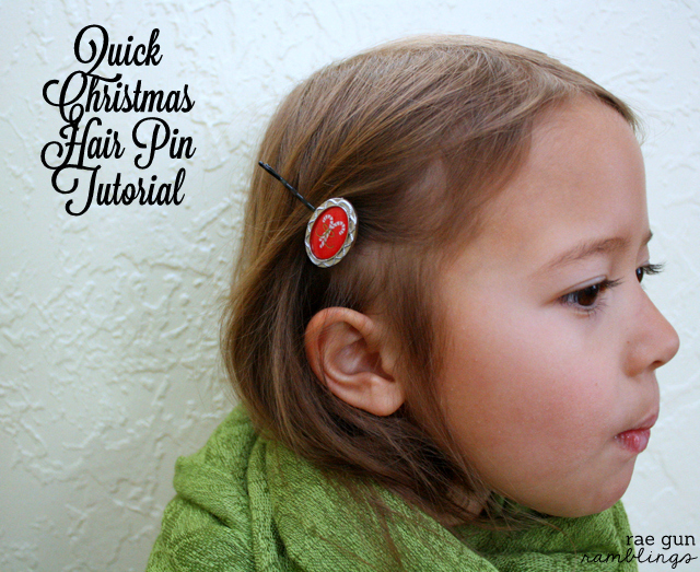 5 Minute Christmas Hair Pins at Rae Gun Ramblings #papercraftedchristmas