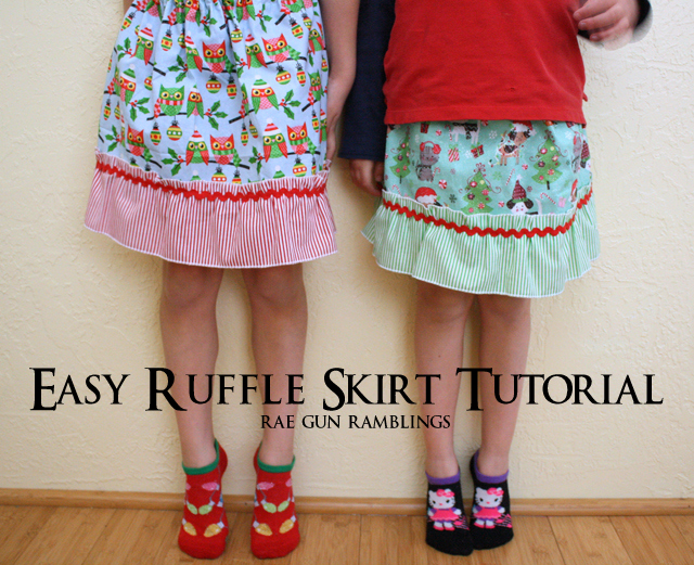 Easy Ruffle Girl Skirt Tutorial. Perfect project for beginners - Rae Gun Ramblings
