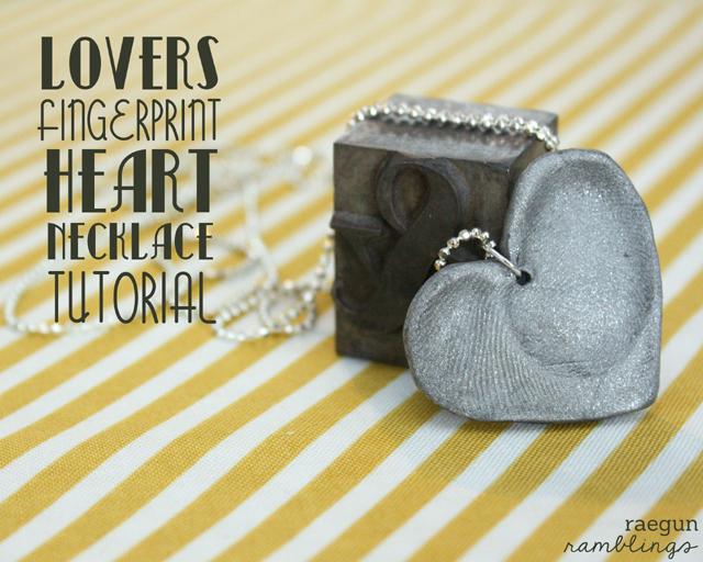 how to make a great fingerprint heart necklace - Rae Gun Ramblings