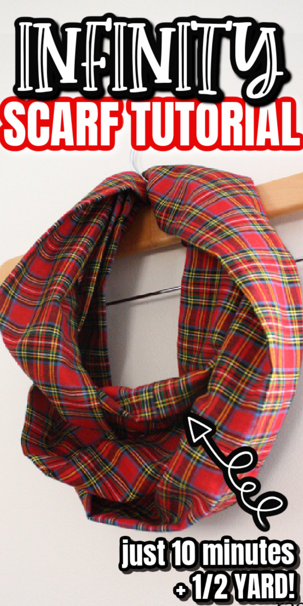 Plaid Scarf on a hanger