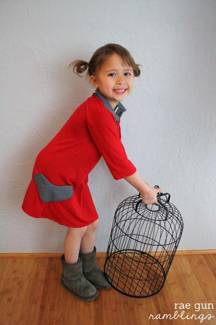 Darling sewing pattern hack and heart shaped pocket sewing tutorial - Rae Gun Ramblings