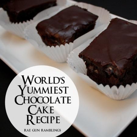 Easy and delicious super rich chocolate cake recipe - Rae Gun Ramblings