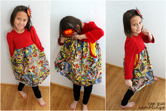 Great girl's sewing patter and Super Hero Comic book headband tutorial - Rae Gun Ramblings