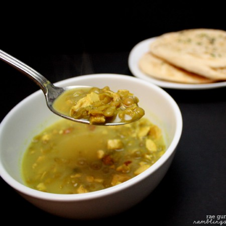 I love this Curry Chicken Lentil Soup. Super fast and yummy I've also tried it with leftover turkey - Rae Gun Ramblings