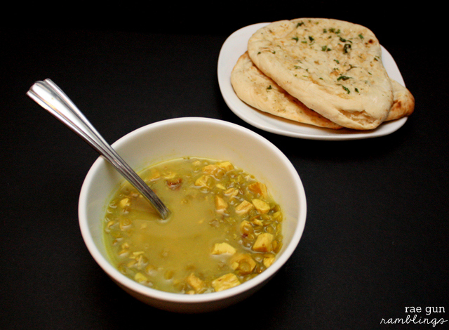 Great coconut curry chickent lentil soup recipe. Perfect for left over turkey - Rae Gun Ramblings