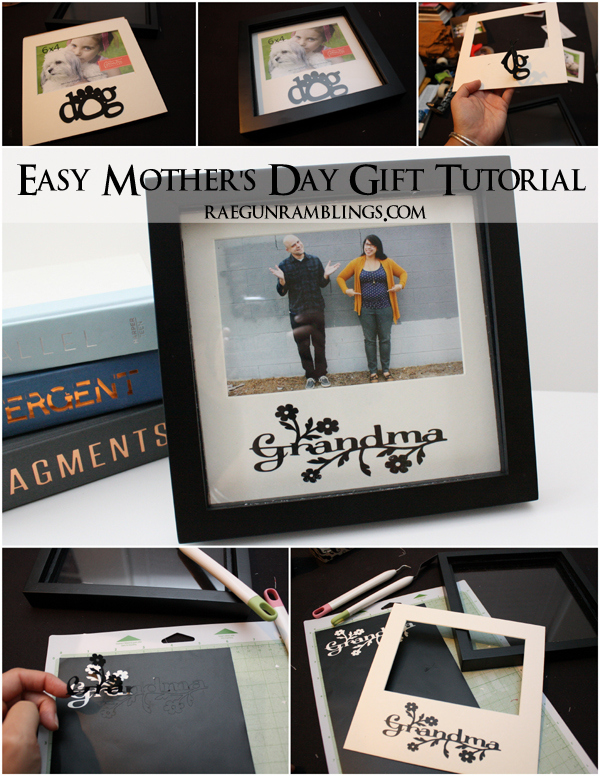 Step by step instructions for repurposing a phrase frame for a lovely gift. Tutorial at Rae Gun Ramblings