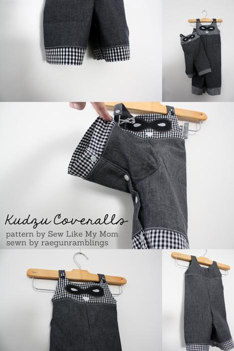 Raccoon Coveralls Sewing Pattern - Rae Gun Ramblings