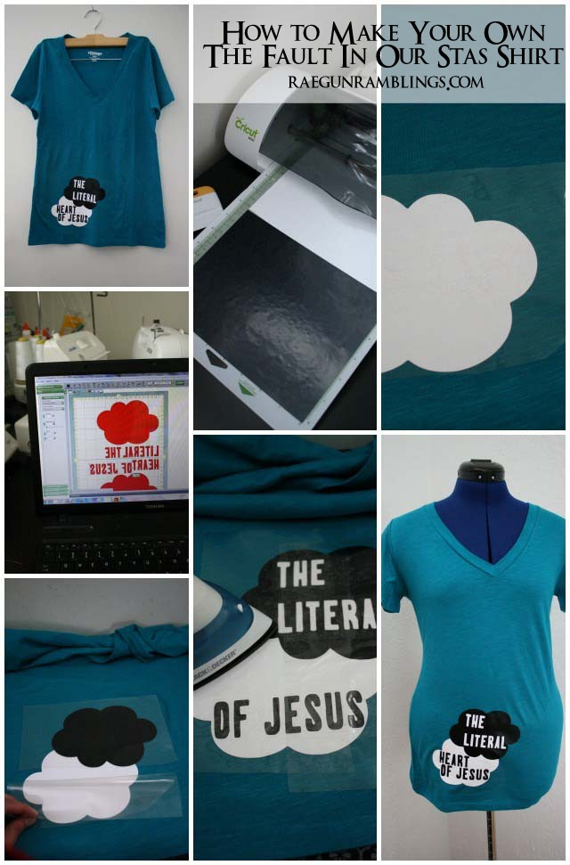 Step by step instructions for how to make a The Fault in Our Stars Iron On. Put it on a shirt or bag. from Rae Gun Ramblings
