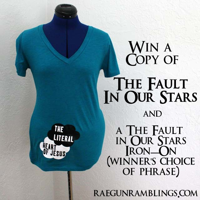 Win a copy of The Fault in Our Stars and an Iron On from Rae Gun Ramblings