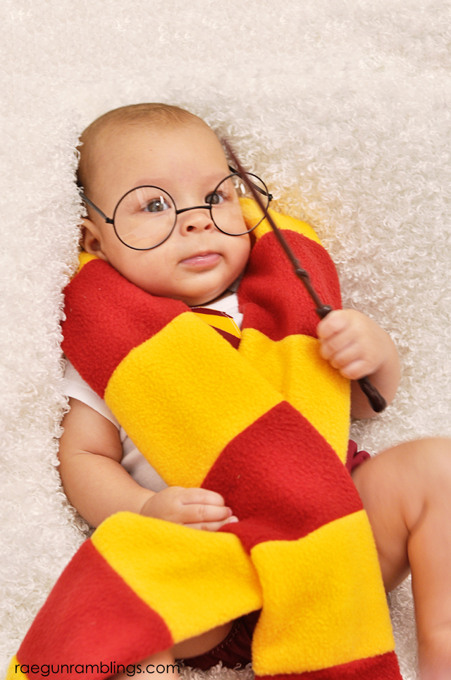 A post full of creative Harry Potter baby pictures. Such a fun idea. at Rae Gun Ramblings