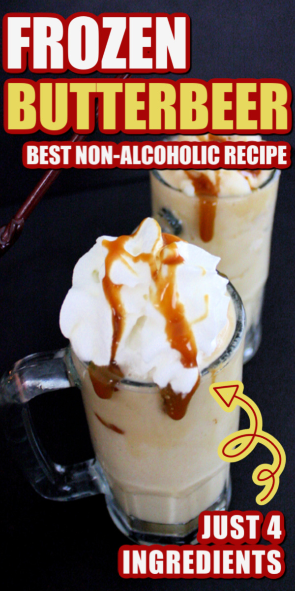How to make Harry Potter's famous Frozen Butterbeer recipe. Great non-alcoholic drink recipe.