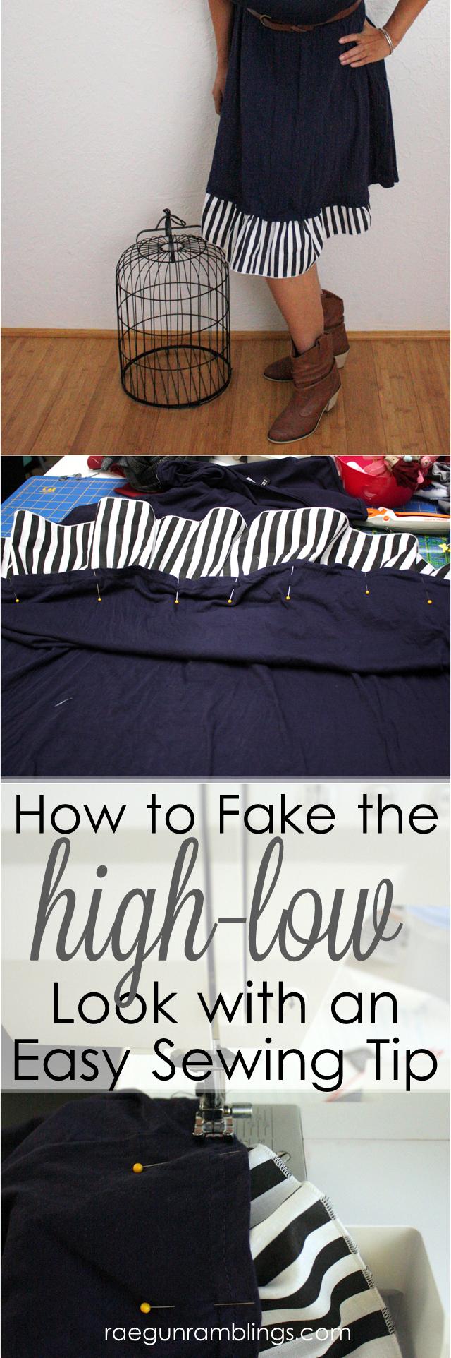 High-low fake out dress tutorial - Rae Gun Ramblings