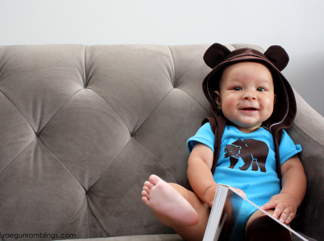 Hooded Bear Baby Vest Tutorial- Rae Gun Ramblings