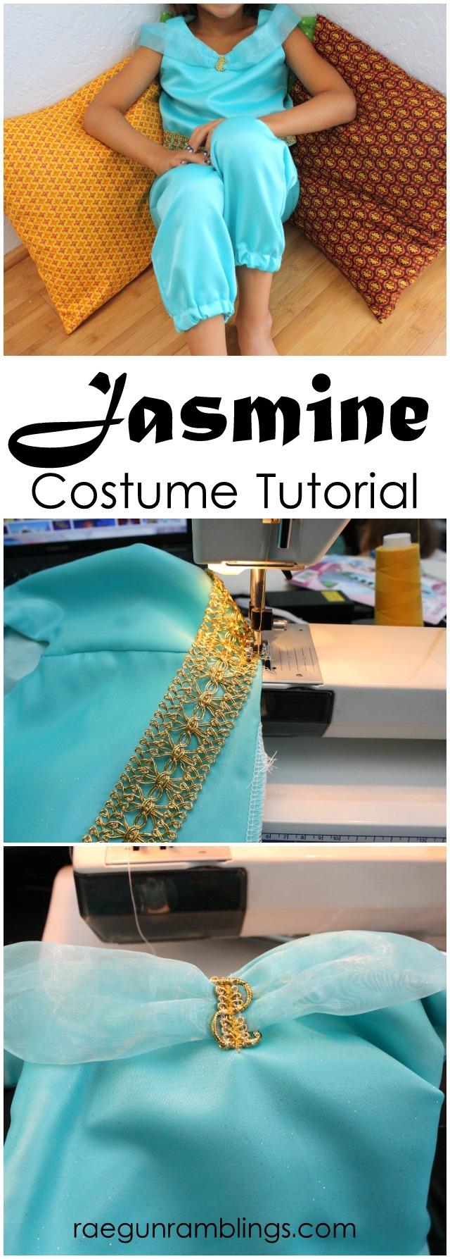 Princess Jasmine or Genie Costume Tutorial at Rae Gun Ramblings