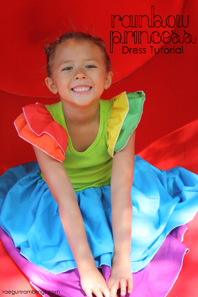 How to make a quick and easy rainbow dress - Rae Gun Ramblings