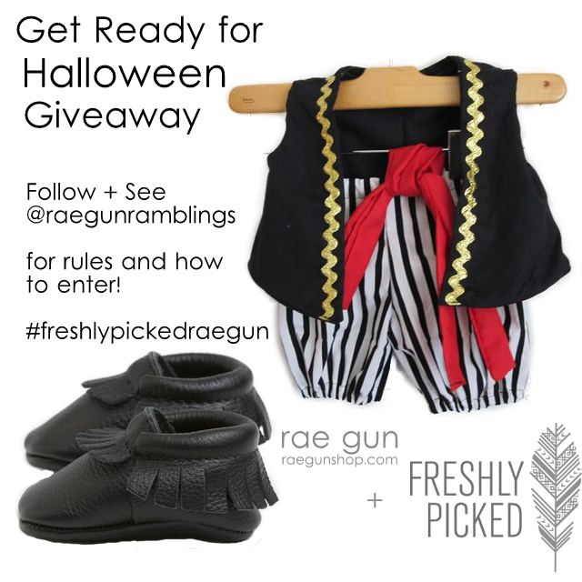 Freshly Picked Moccs and Rae Gun Pirate Costume