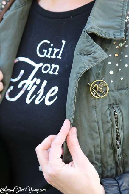 DIY Girl on Fire Hunger Games Shirt