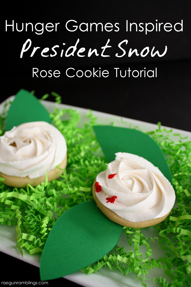 """How to make super easy President Snow roses. Great for Hunger Games parties. Or leave off the """"blood"""" for cute roses - Rae Gun Ramblings"""