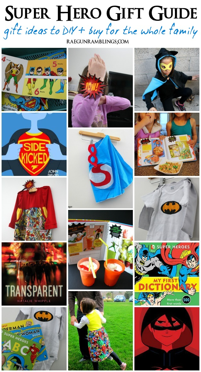 Great gift ideas for all your Super Hero lovers! Both DIY and buyable presents - Rae Gun Ramblings