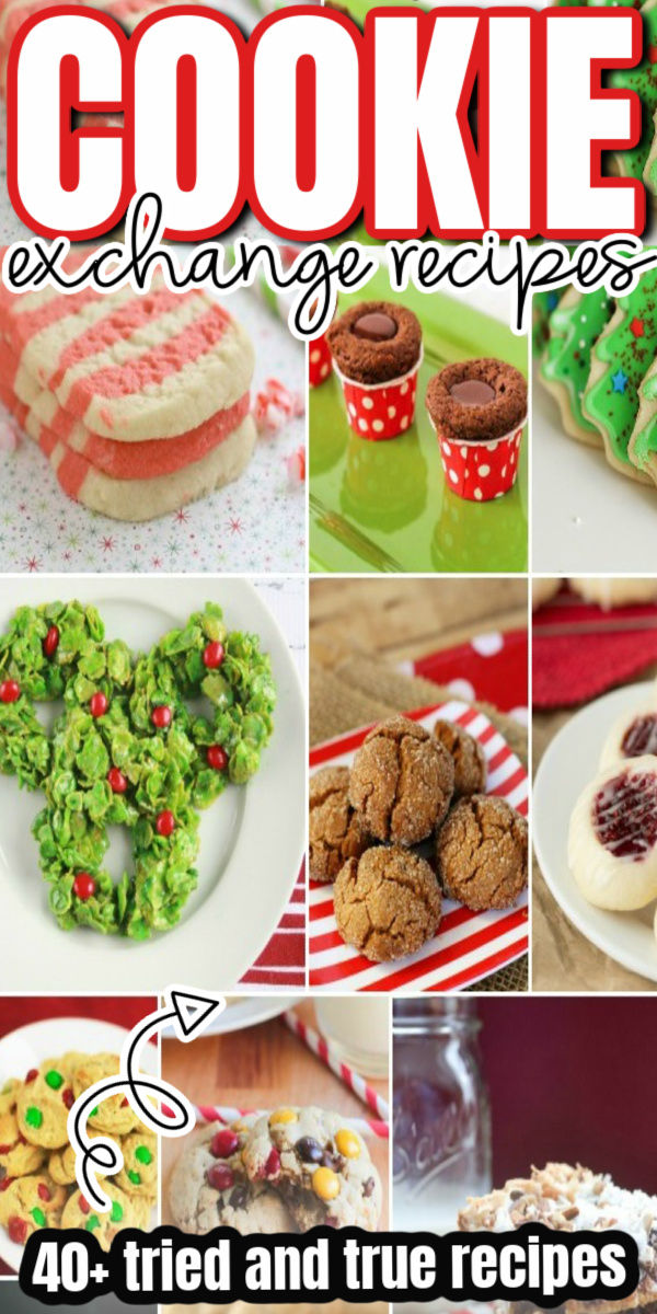 How to make Christmas thumb print cookies and tons of creative and classic cookie exchange recipes.