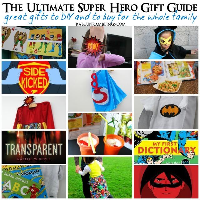 Great list of gifts to buy or diy for all Super Hero fans - Rae Gun Ramblings